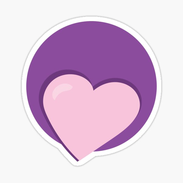 Valentines Day Double Hearts For You Sticker