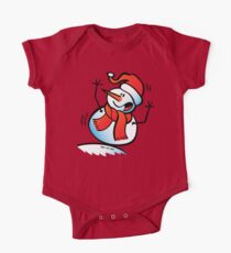 Snowman Toppling Over One Piece - Short Sleeve