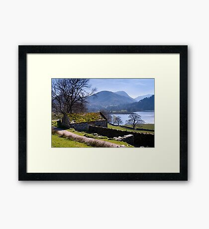 Traditional Barn - Ullswater - The Lake District Framed Print