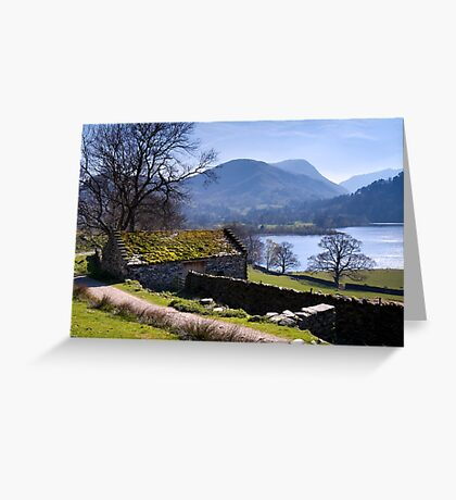 Traditional Barn - Ullswater - The Lake District Greeting Card