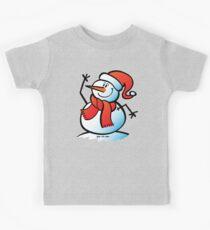 Snowman Waving Kids Tee
