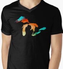 Michigan - Great Lakes in Fractal Colors T-Shirt