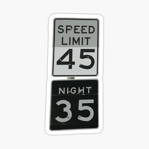 Big Pine Key Speed Limit Sticker