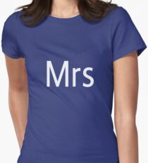 Mrs Adobe Photoshop Themed Womens Fitted T-Shirt