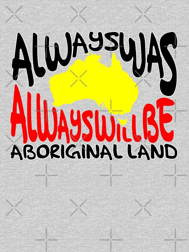 Always was Always Will Be Aboriginal Land by HogarthArts