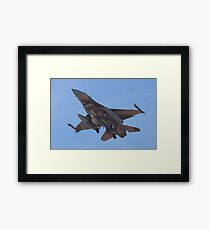 Belly shot of an F-16C Fighting Falcon Framed Print
