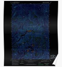 USGS Topo Map Washington State WA Browns Lake 240244 1968 24000 Inverted Poster