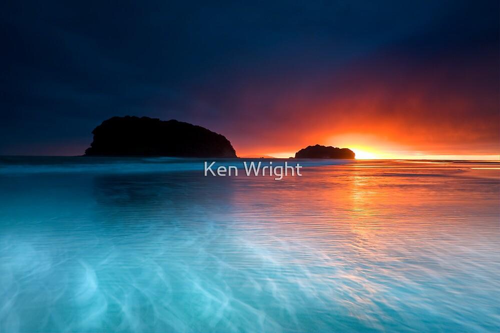 Whangamata Island Dawn Blast by Ken Wright