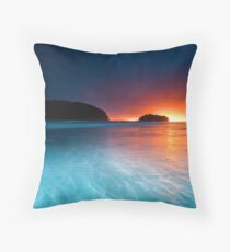Whangamata Island Dawn Blast Throw Pillow