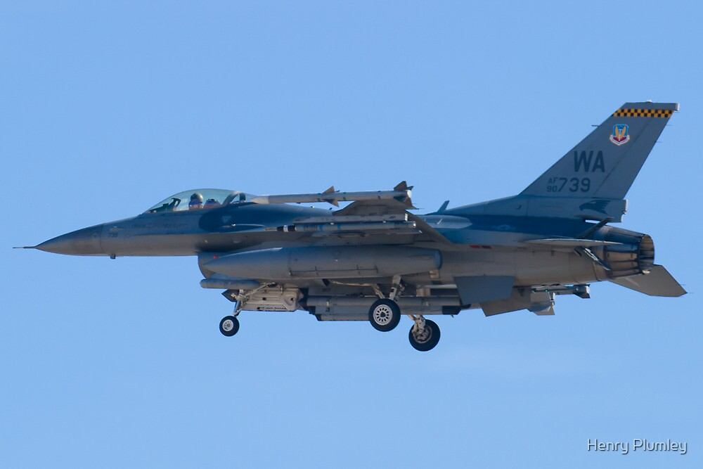 WA AF 90-0739 F-16C Fighting Falcon by Henry Plumley