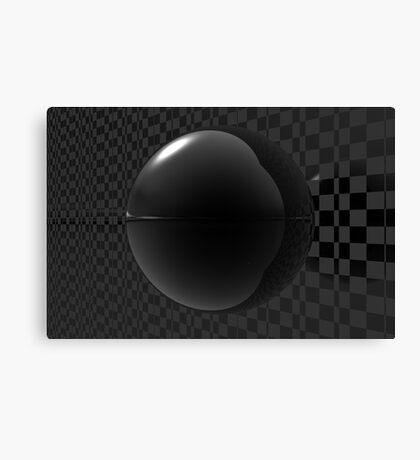 Black Checkers Canvas Print