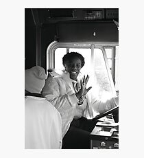 Entertaining Tram Driver Photographic Print