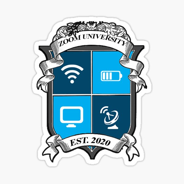 Zoom University Crest Sticker
