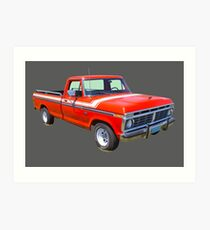 1975 Ford F100 Explorer Pickup Truck Art Print