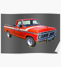 1975 Ford F100 Explorer Pickup Truck Poster