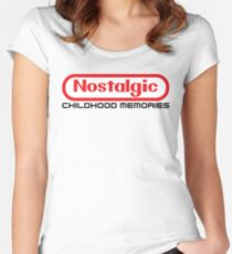NES Collection : Nostalgic Childhood Memories Women's Fitted Scoop T-Shirt