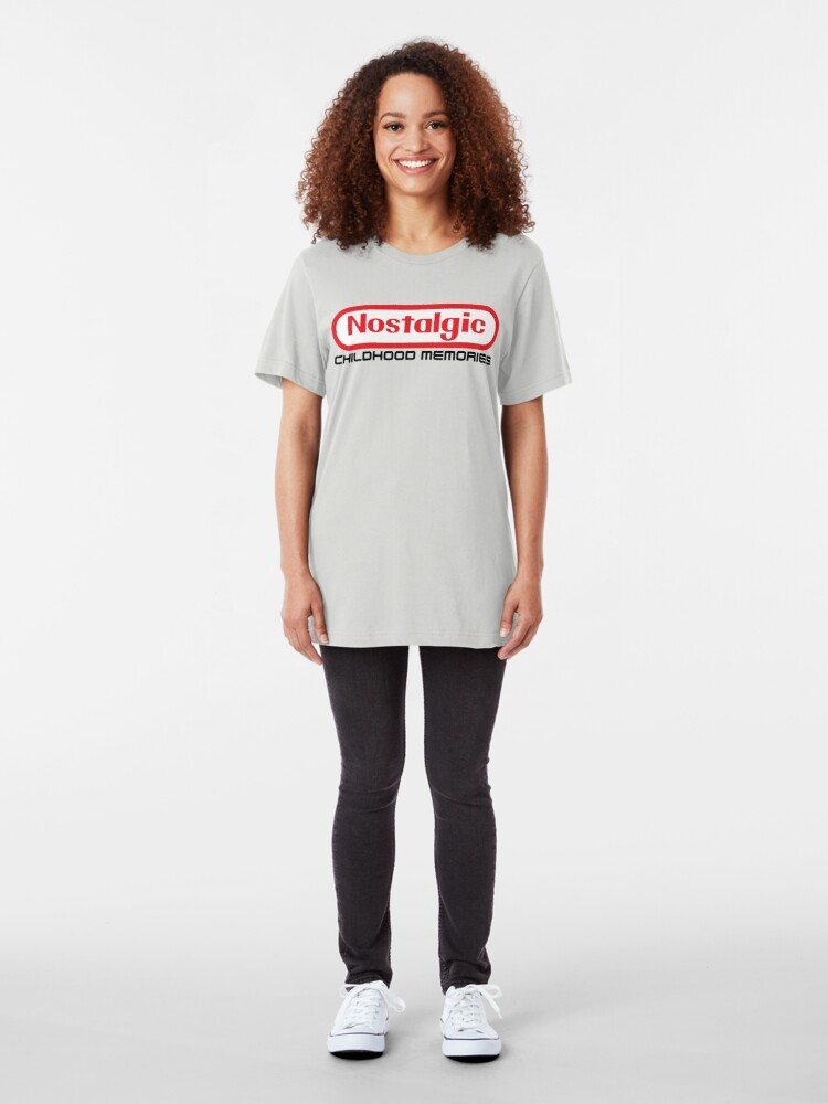 Alternate view of NES Collection : Nostalgic Childhood Memories Slim Fit T-Shirt