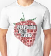 The Beatles - Strawberry Fields Forever Wordcloud T-Shirt