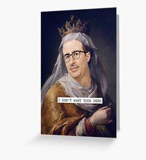 John Oliver - Saintly Celeb Greeting Card