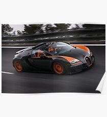 Bugatti Veyron Vitesse WRC Poster