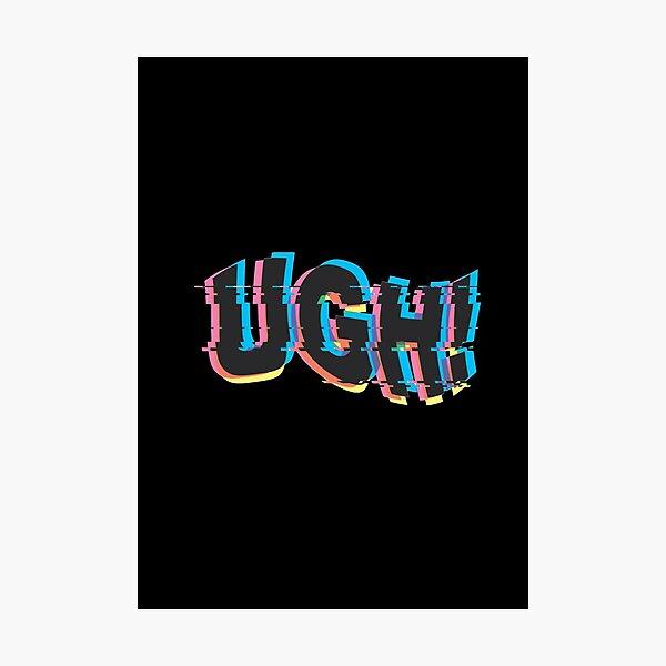 UGH! - BTS glitch art Photographic Print