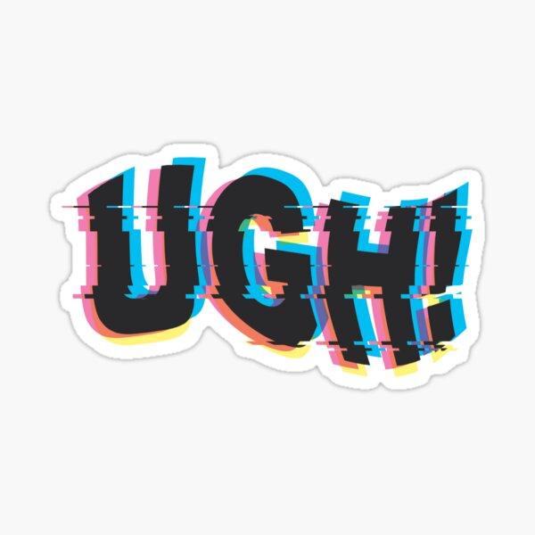 UGH! - BTS glitch art Sticker