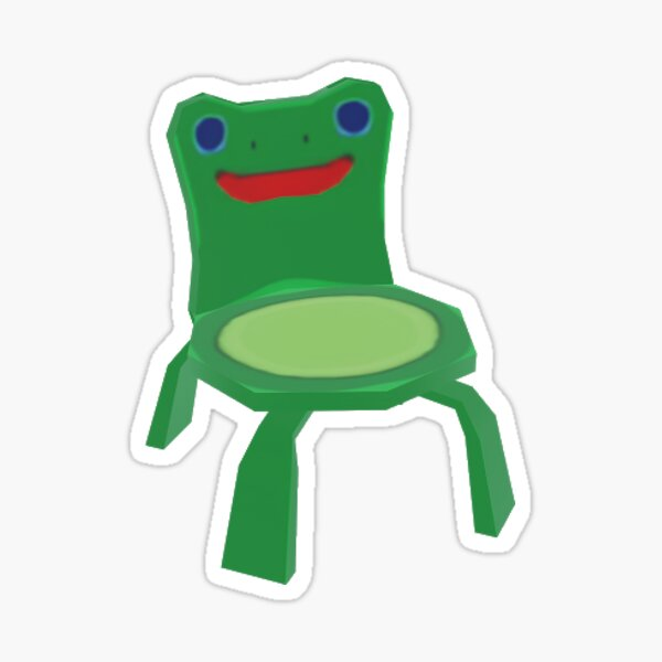Froggy Chair Sticker By Fribfrog Redbubble