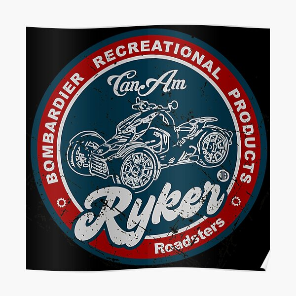 Can-Am Ryker Retro Poster