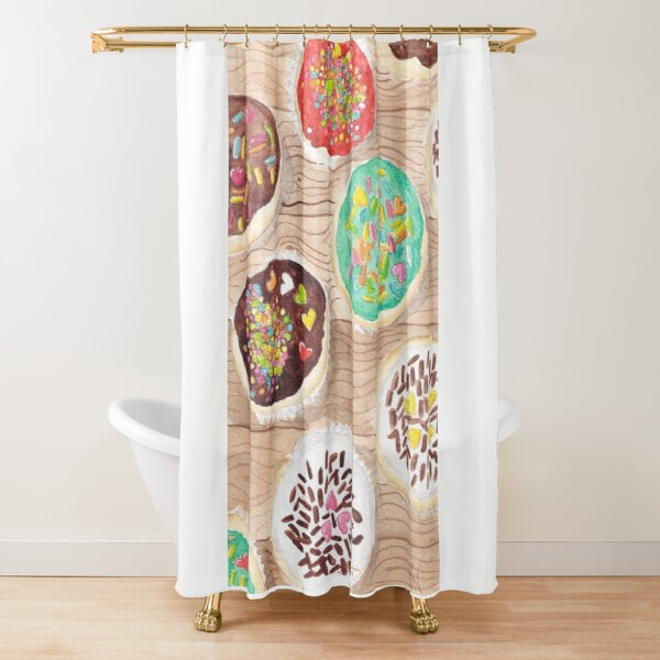 Cupcake Party - Watercolor Shower Curtain