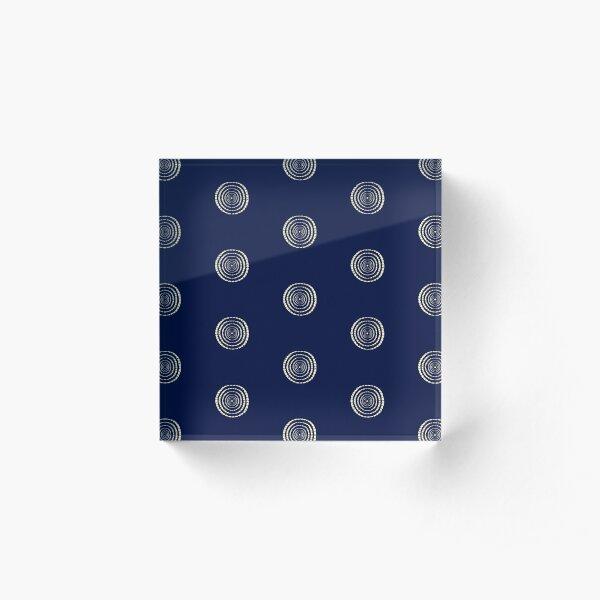 Encircled Texture Rings Acrylic Block