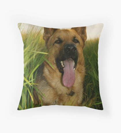 The Shepherd In The Barley Field (colour) Throw Pillow