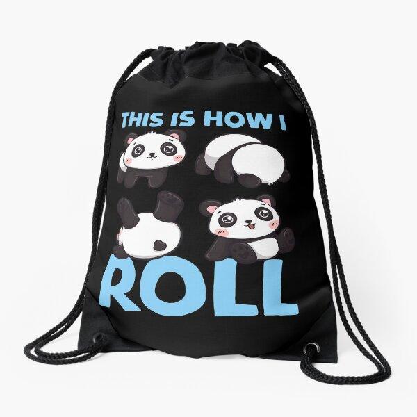 Así es como ruedo Panda Pun Kawaii Little Bear Mochila saco