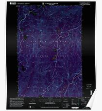 USGS Topo Map Washington State WA Spencer Butte 243894 1998 24000 Inverted Poster