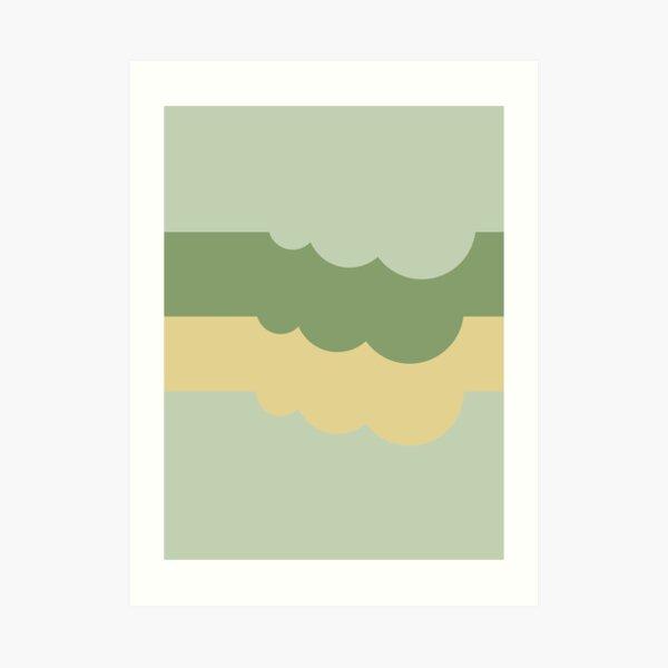 Clouds Autumn Pantone Tones Art Print