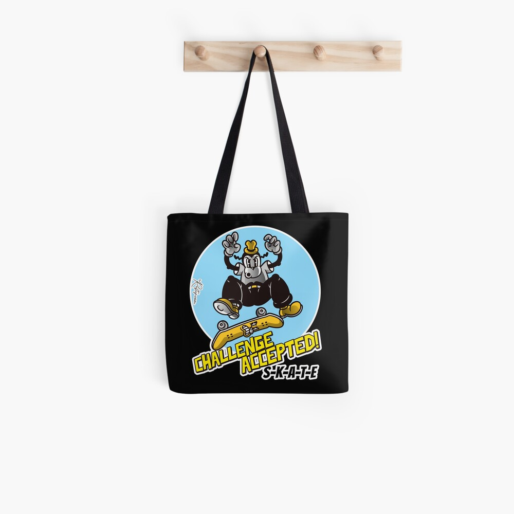 Skate or Die, Challenge Accepted SKATE Skateboarder Design Tote Bag
