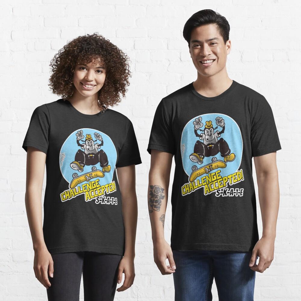 Skate or Die, Challenge Accepted SKATE Skateboarder Design Essential T-Shirt