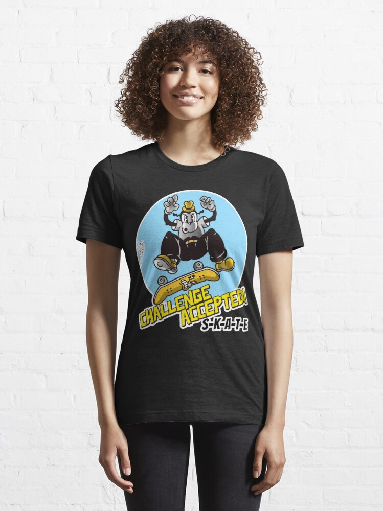 Alternate view of Skate or Die, Challenge Accepted SKATE Skateboarder Design Essential T-Shirt