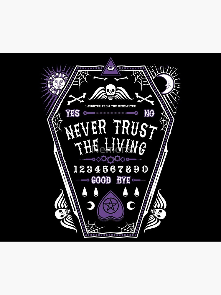Hereafter - Never Trust The Living - Beetlejuice - Creepy Cute Goth - Occult by Nemons