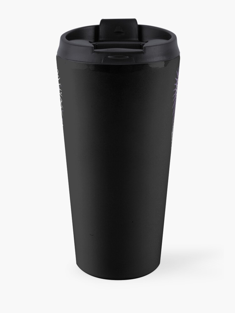 Alternate view of Hereafter - Never Trust The Living - Beetlejuice - Creepy Cute Goth - Occult Travel Mug