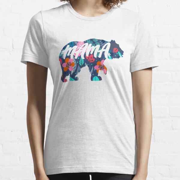 Blumen Mama Bär Essential T-Shirt