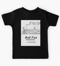 Rail Fan In Training Kids Clothes Kids Tee