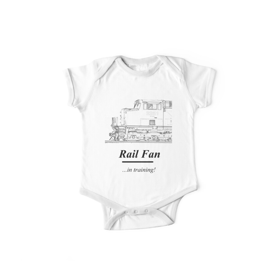 Rail Fan In Training Kids Clothes by JoeDavisPhoto