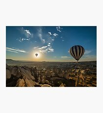 A balloon journey at Cappodocia Photographic Print