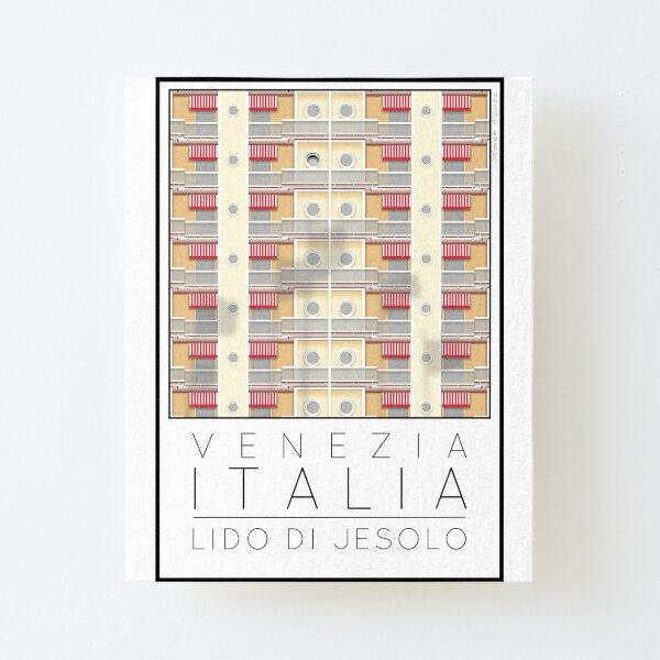 Lido di Jesolo Peach Apartments Canvas Mounted Print