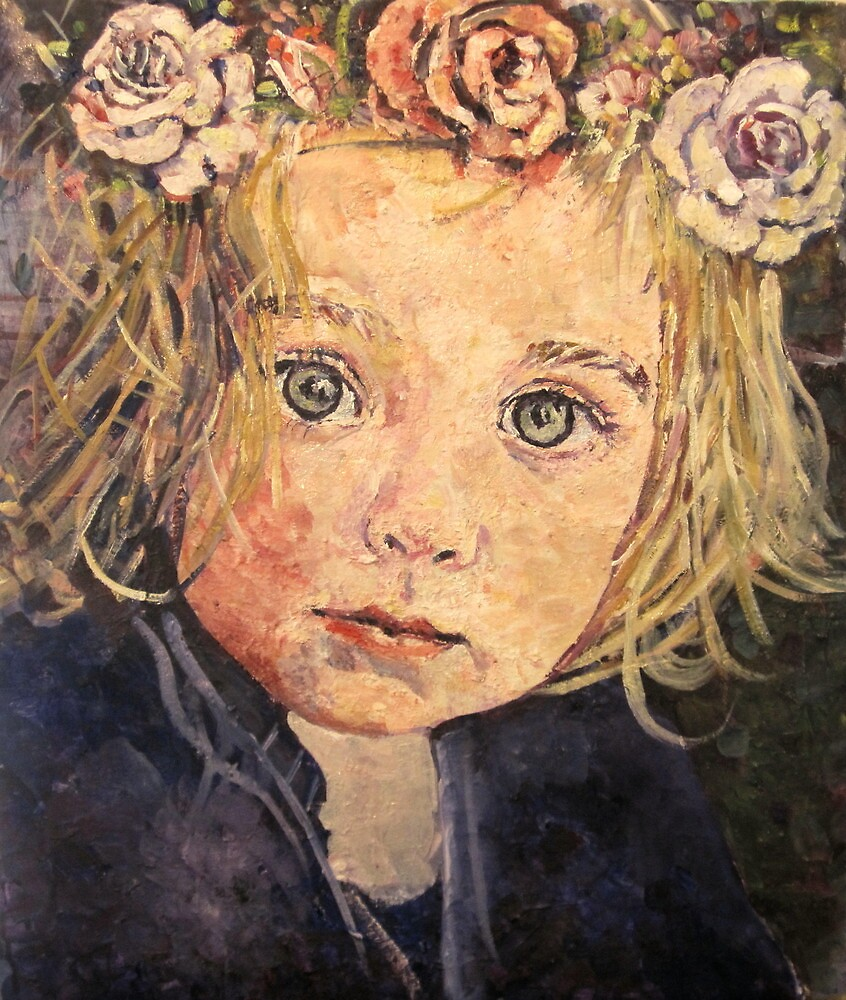 Flowers in her hair by pamfox