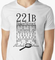 221b: When you have eliminated the impossible-SH Men's V-Neck T-Shirt