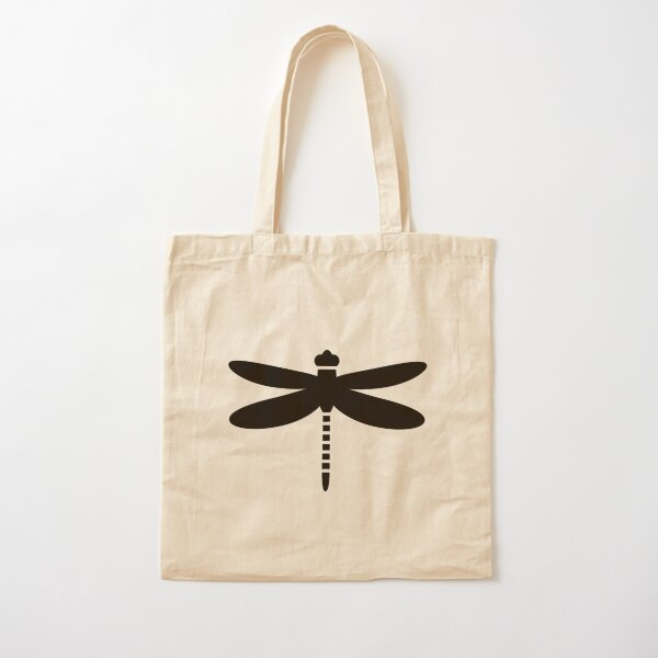 Bugs: abstract Dragonfly Cotton Tote Bag