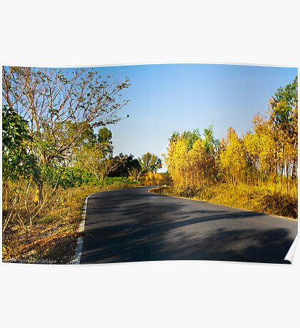 Sentiment of Perspective - Afternoon Countryside Road  Poster