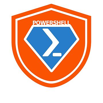 PowerShell Emblem - Orange by myclubtees
