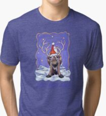 Reindeer Christmas Tri-blend T-Shirt
